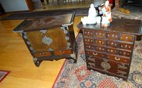 2, Oriental multi drawer chests