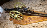 excellent 22 blank firing miniature cannon model by George Braun 15in long