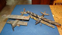 four 1920s Arthur S. Moore wooden model airplanes
